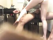 Her pussy so good when she rides his big cock he came very fast